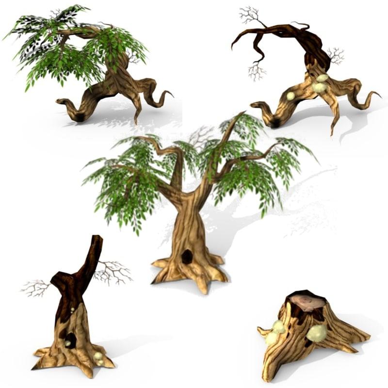 3d set tree