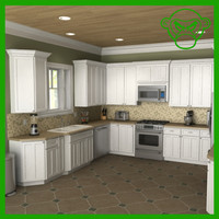 3d model of kitchen set