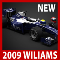 2009 F1 Williams Toyota FW31 (car, helmets, steering wheel and seat)