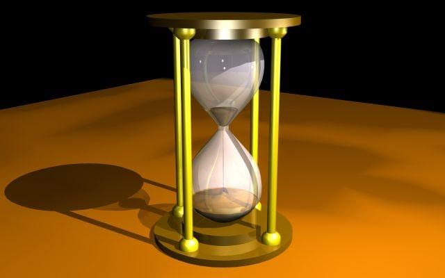 hour-glass hour 3d model