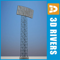 3d 3ds light tower