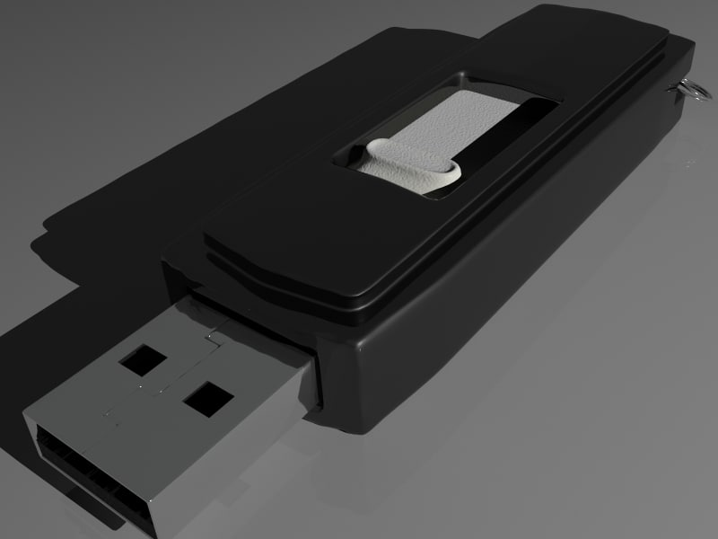 3d memorystick memory stick model