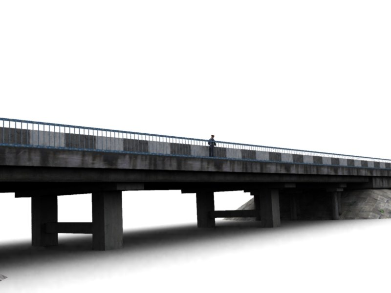 3d bridge road model