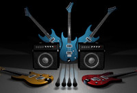 cinema4d electric guitar speaker box