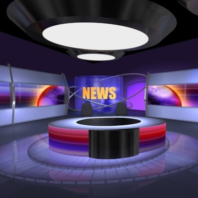 maya broadcast news virtual set