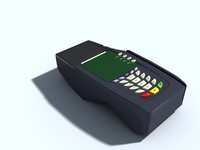 pos card reader 3d max