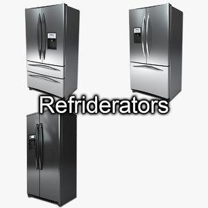 refrigerator freezer 3d max