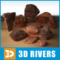 stratified stones 3d model