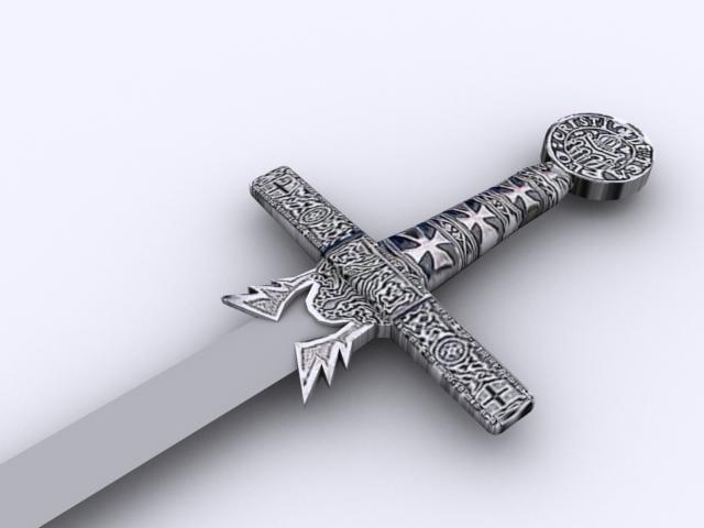 3d templar sword