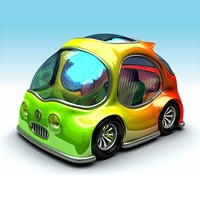 3d cartoon car ! model