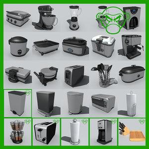 3d small appliance set model