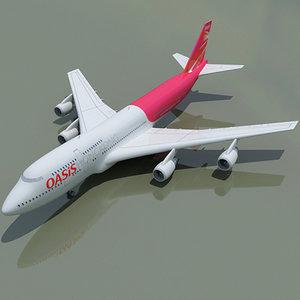 3d model b 747 hong kong