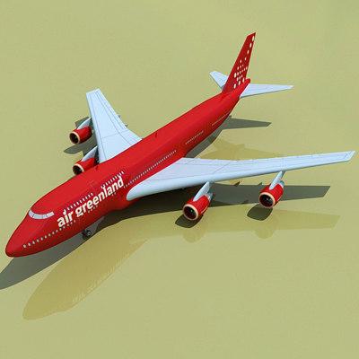 3d b 747 green land model
