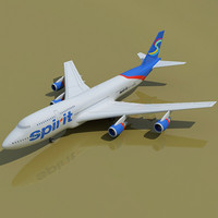 Spirit Airlines 3D Model Boeing
