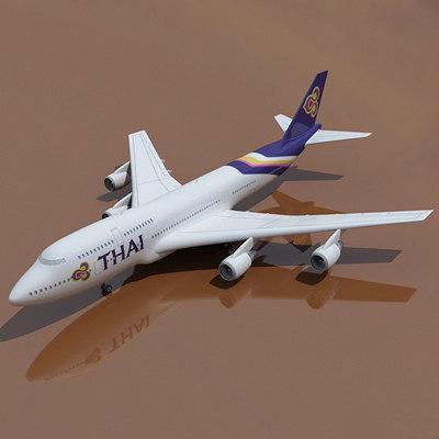 3d b 747 thai model