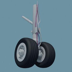 3d aircraft wheels