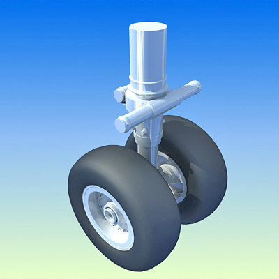 aircraft wheels 3d model
