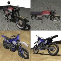3d motorbike pack model