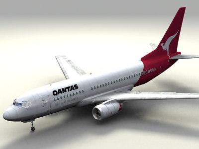 3d model qantas w interior