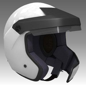 rally helmet car 3d model