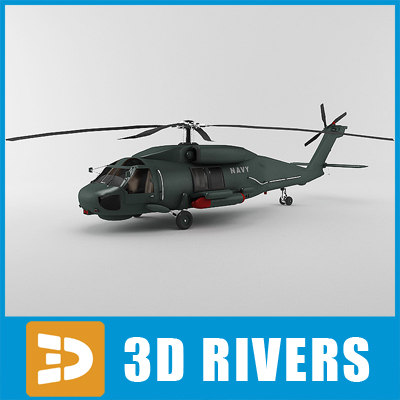3d ah-60 helicopter battlehawk