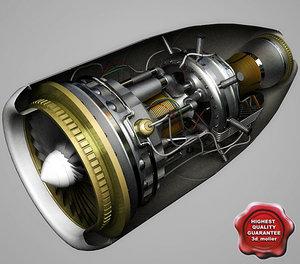 aircraft jet engine 3d model