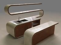 modern bar 3d model