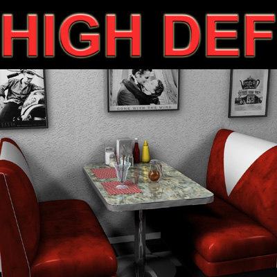 booth restaurant cafe 3d model