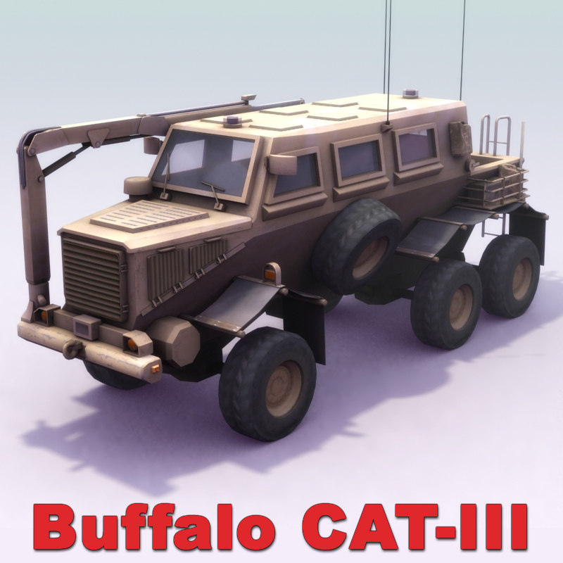 buffalo mrap 3d model