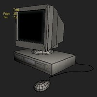 computer workstation 3d 3ds