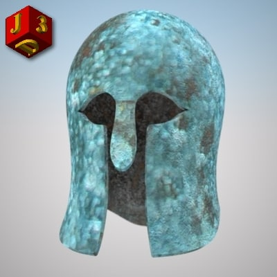 3d model corinthian helmet corinth