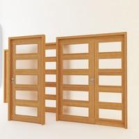 3dsmax modern wooden doors