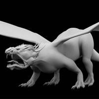 dragon 3d obj