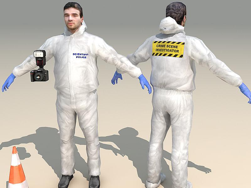 forensic character fbx