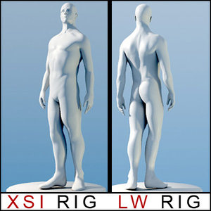 lightwave rig anatomy virtual 3d model