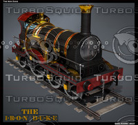 3d model of iron duke locomotive