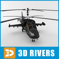 alligator helicopter military 3d model