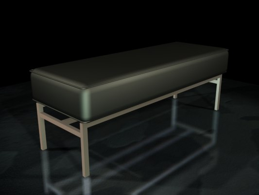 3ds leather bench