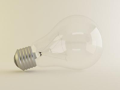 3d incandescent light bulb model
