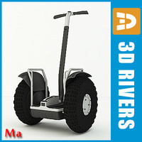 electric segway v1 3d model