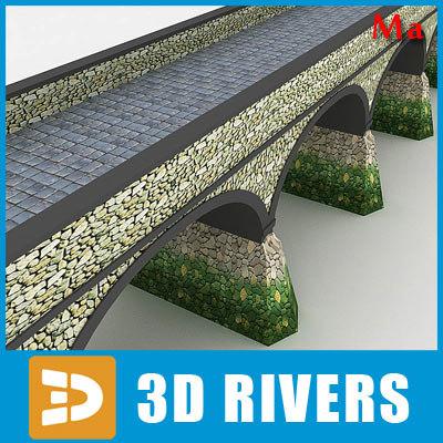 3d arched stone bridge v1 model