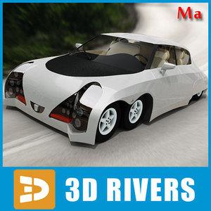 8-wheeled eliica v1 3d model