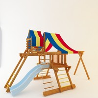3d model wooden playground