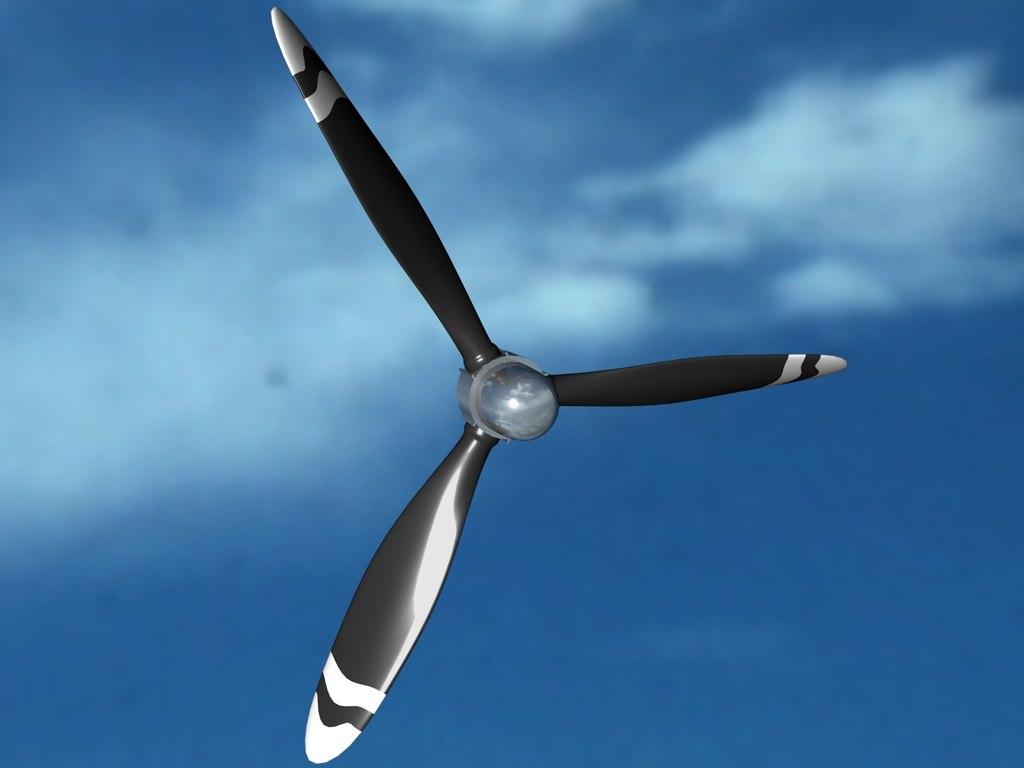 free c4d model propeller engine