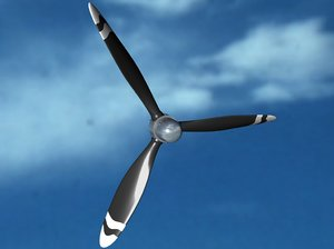 free c4d model propeller engine