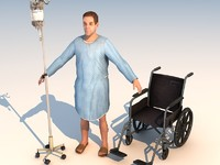 games patient 3d model