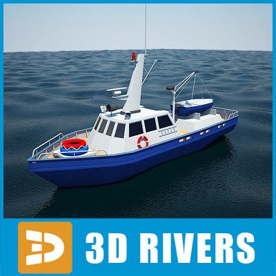 police ship boat 3d model