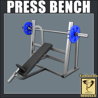 3ds max bench press