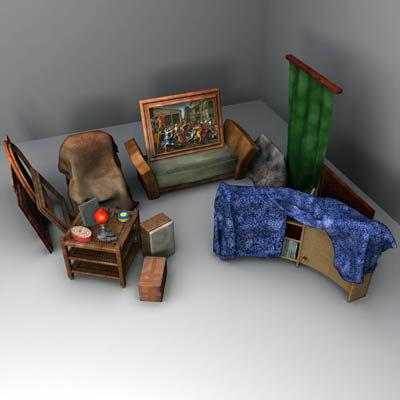 dusty room 3d max