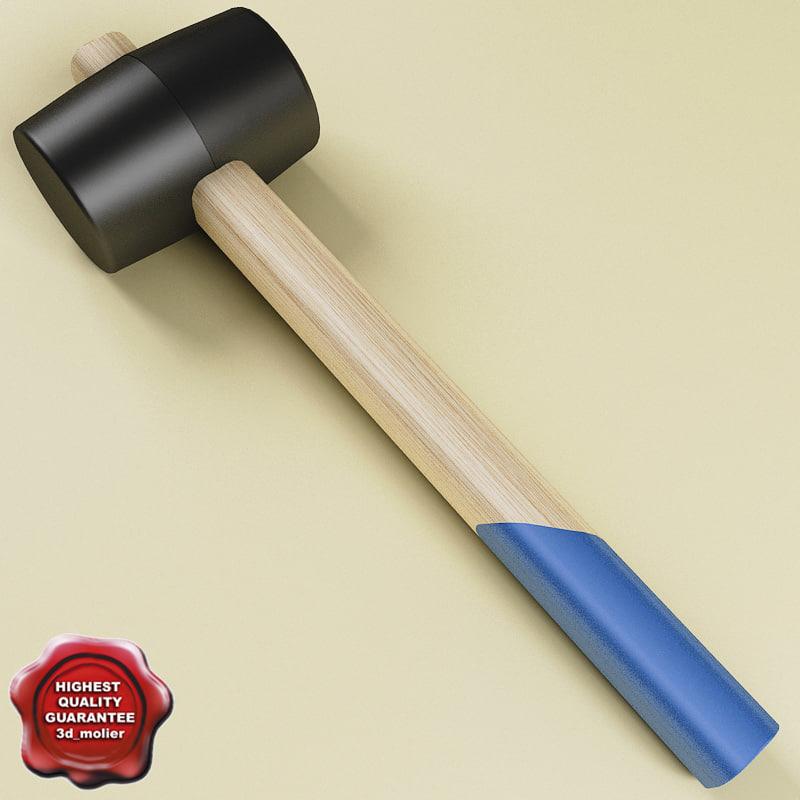 3d rubber mallet